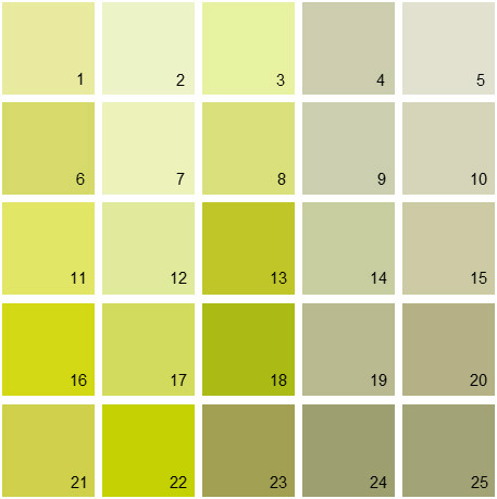 Benjamin Moore Green House Paint Colors - Palette 04