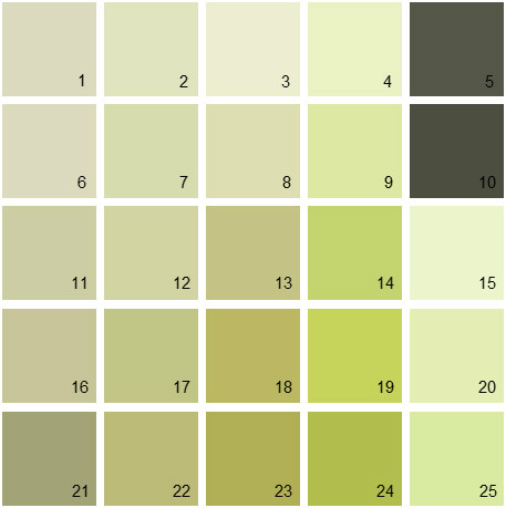 Benjamin Moore Green House Paint Colors - Palette 05