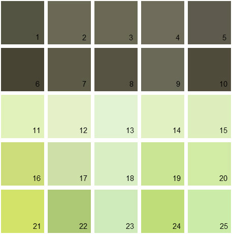 Benjamin Moore Green House Paint Colors - Palette 06