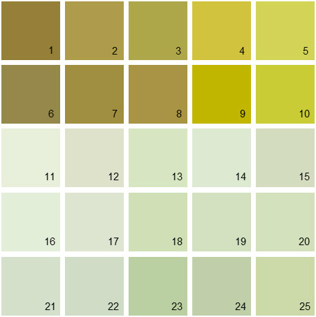 Benjamin Moore Green House Paint Colors - Palette 08