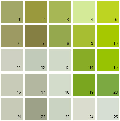 benjamin moore paint colors - green palette 10 | house paint colors