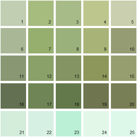 benjamin moore paint colors - green palette 13 | house paint colors