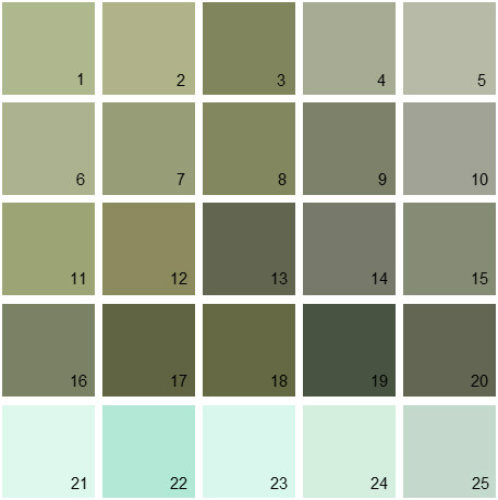 Benjamin Moore Green House Paint Colors - Palette 14
