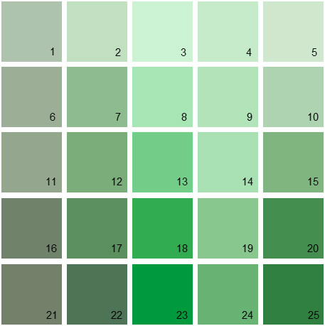 benjamin moore paint colors - green palette 16 | house paint colors