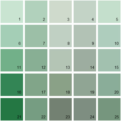 Benjamin Moore Green House Paint Colors   Palette 17Benjamin Moore Paint Colors   Green Palette 17   House Paint Colors. Green Paint Color Palette. Home Design Ideas