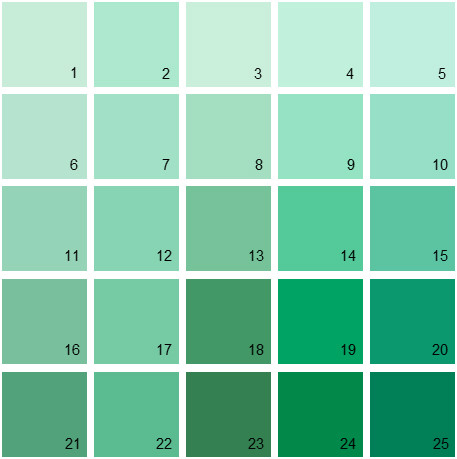 Benjamin Moore Green House Paint Colors Palette 18