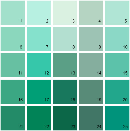 Benjamin Moore Green House Paint Colors - Palette 19