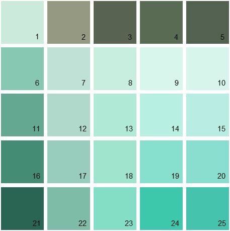 Benjamin Moore Green House Paint Colors - Palette 20
