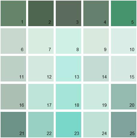 Benjamin Moore Green House Paint Colors - Palette 22