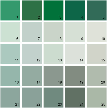 Benjamin Moore Green House Paint Colors - Palette 23