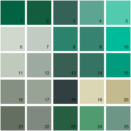 benjamin moore paint colors - green palette 24 | house paint colors