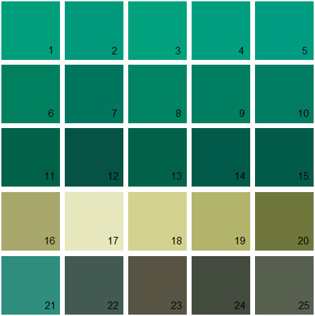 Benjamin Moore Green House Paint Colors Palette 25