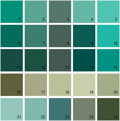 benjamin moore paint colors - green palette 26 | house paint colors
