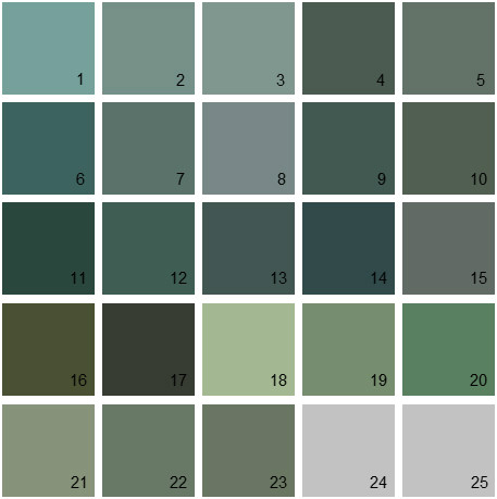 benjamin moore paint colors - green palette 27 | house paint colors