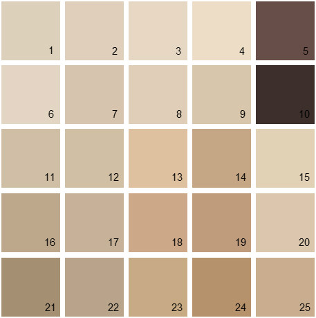 House paint color palette images for Beige white paint color