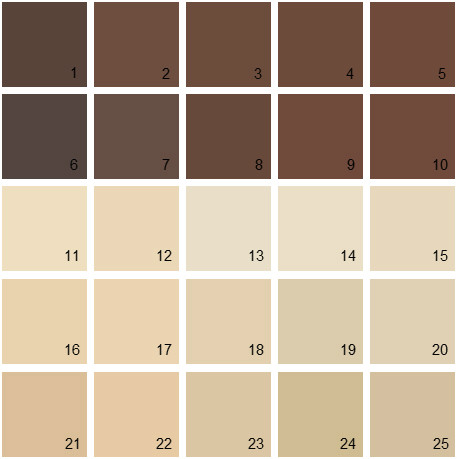 Neutral Paint Color Chart
