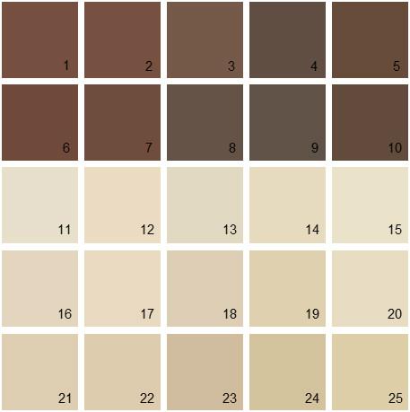 Benjamin Moore Neutral House Paint Colors - Palette 07