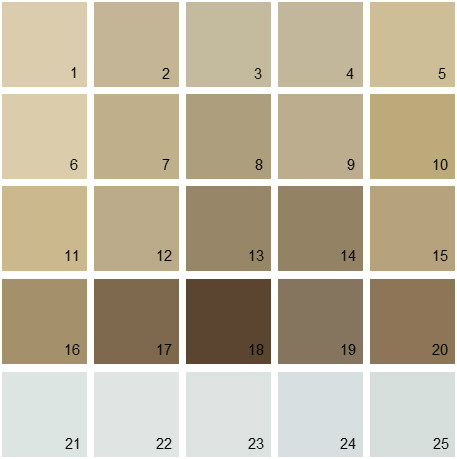 Benjamin Moore Neutral House Paint Colors - Palette 13