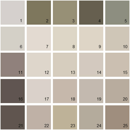 Benjamin Moore Neutral House Paint Colors - Palette 20