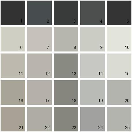 Benjamin Moore Neutral House Paint Colors - Palette 23