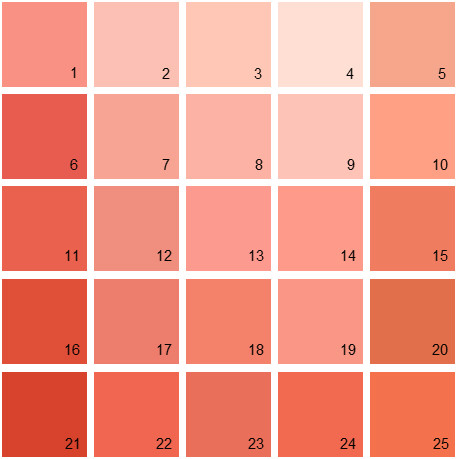 Benjamin Moore Orange House Paint Colors Palette 03