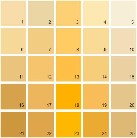 benjamin moore paint colors - orange palette 15 | house paint colors