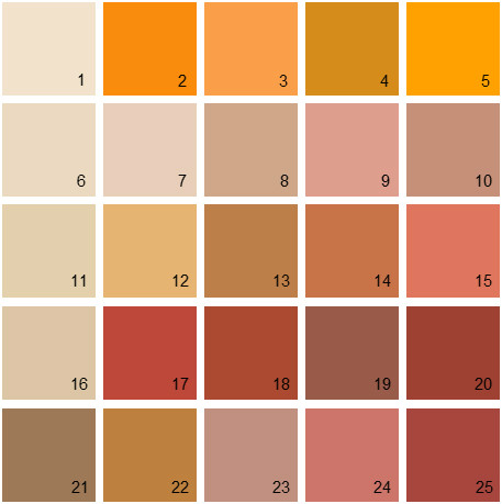 Shades Of Orange Paint Popular Wall Paint Colors Orange