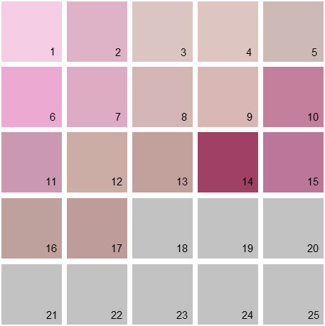 Benjamin Moore Pink House Paint Colors - Palette 12
