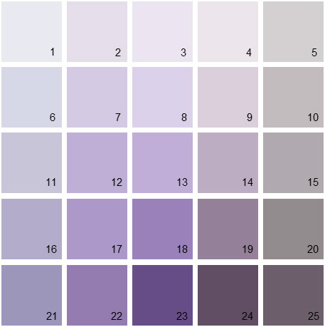 Benjamin Moore Purple House Paint Colors Palette 03