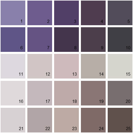 Benjamin Moore Paint Colors Purple Palette 06 House