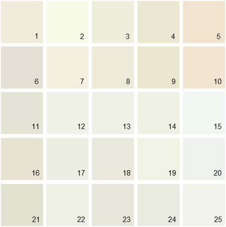 Benjamin Moore White House Paint Colors - Palette 03