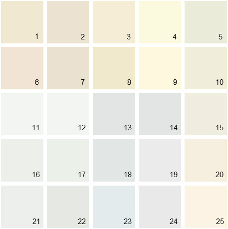 Benjamin Moore White House Paint Colors - Palette 04