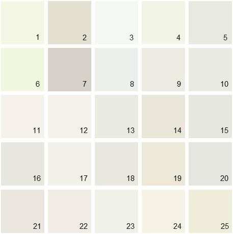 Benjamin Moore White House Paint Colors - Palette 05