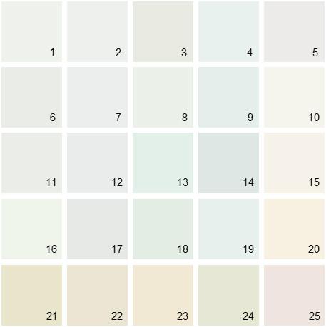 Benjamin Moore White House Paint Colors - Palette 06