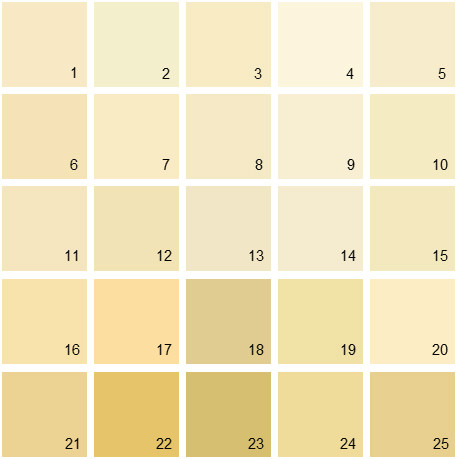 Benjamin Moore Yellow House Paint Colors - Palette 02