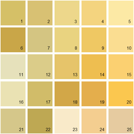 Benjamin Moore Yellow House Paint Colors - Palette 09