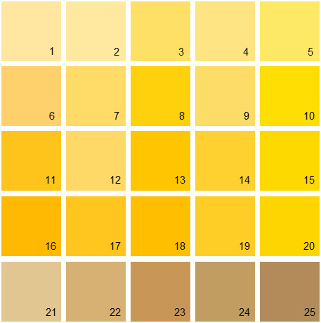 Yellow swatches yellow swatches enchanting yellow swatch for Yellow exterior paint colors