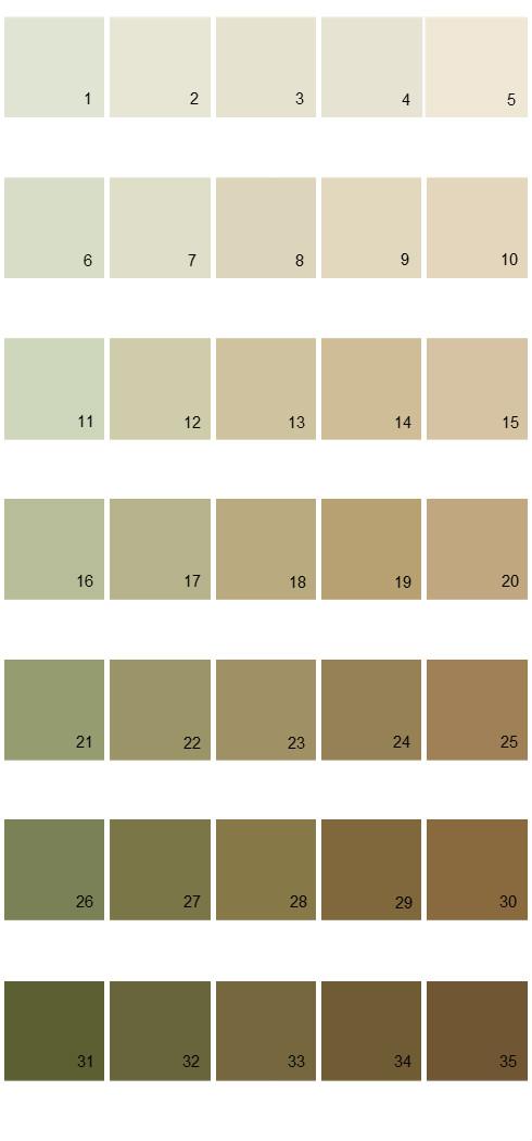 Pittsburgh Paints House Paint Colors - Palette 25