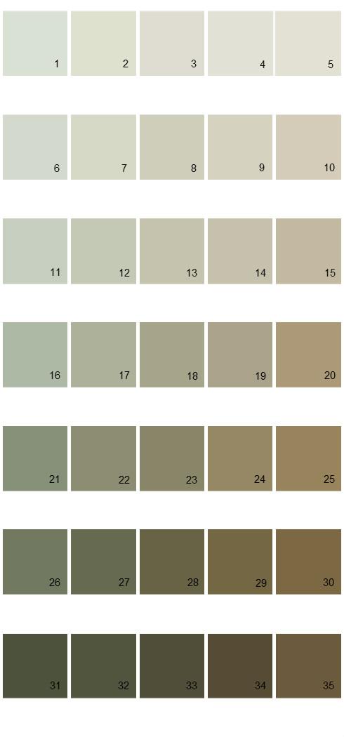 Pittsburgh Paints House Paint Colors - Palette 36