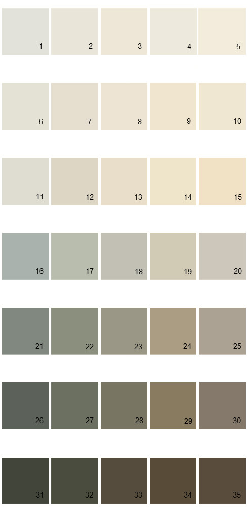 Pittsburgh Paints House Paint Colors - Palette 47