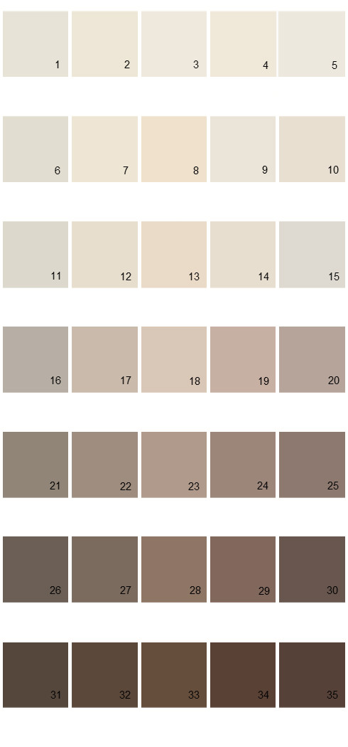 Pittsburgh Paints House Paint Colors - Palette 49