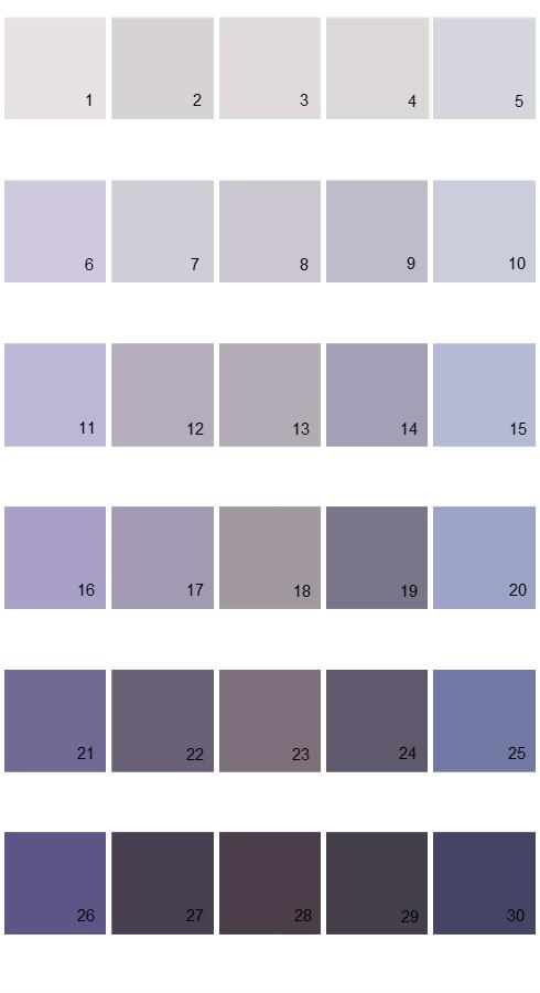 Pratt And Lambert Calibrated House Paint Colors - Palette 04