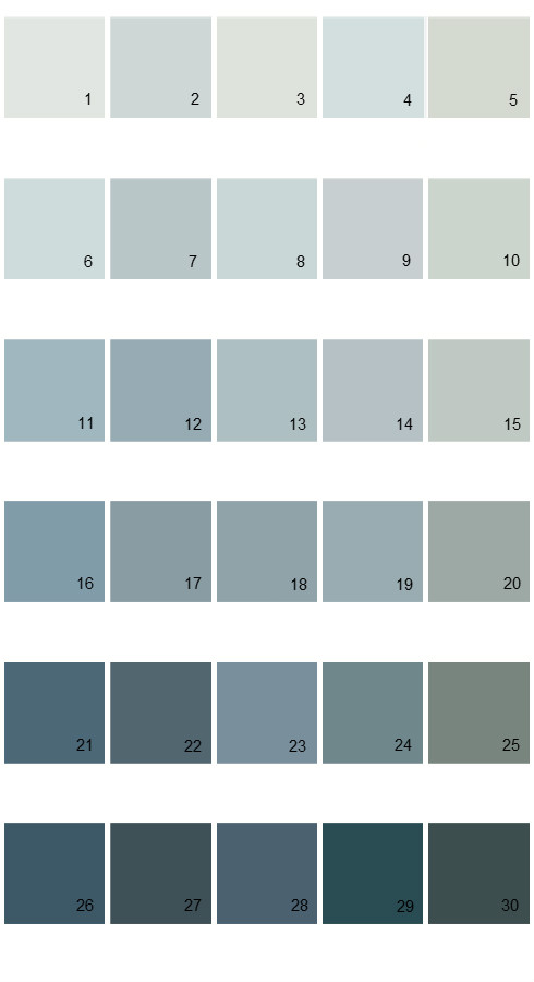 Pratt And Lambert Calibrated House Paint Colors - Palette 08