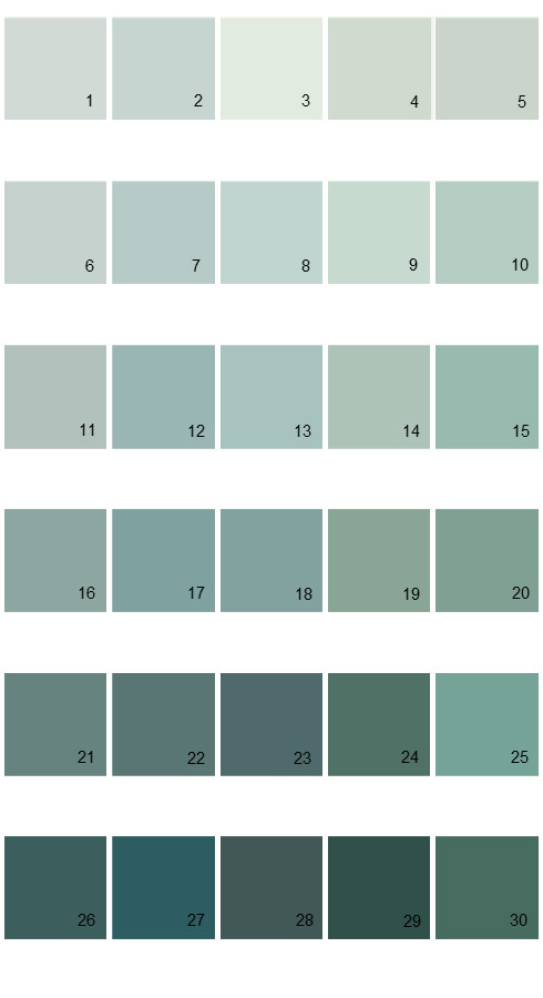 Pratt And Lambert Calibrated House Paint Colors - Palette 09