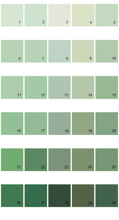 Pratt And Lambert Calibrated House Paint Colors - Palette 12