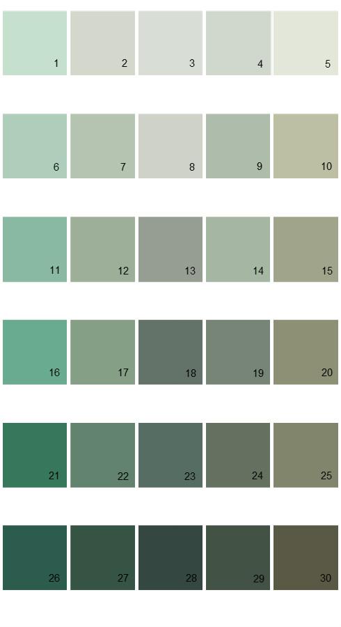 Pratt And Lambert Calibrated House Paint Colors - Palette 13