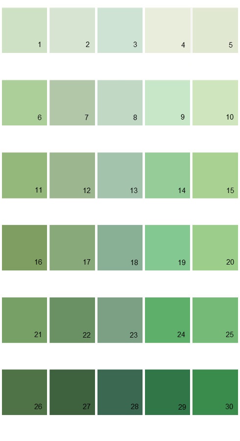 Pratt And Lambert Calibrated House Paint Colors - Palette 14