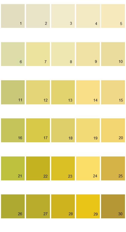 Pratt And Lambert Calibrated House Paint Colors - Palette 16