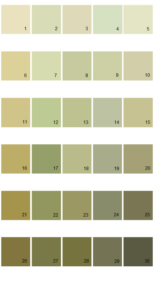 Pratt And Lambert Calibrated House Paint Colors - Palette 17