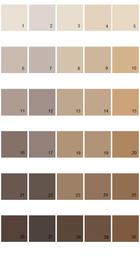 Pratt And Lambert Calibrated House Paint Colors - Palette 26